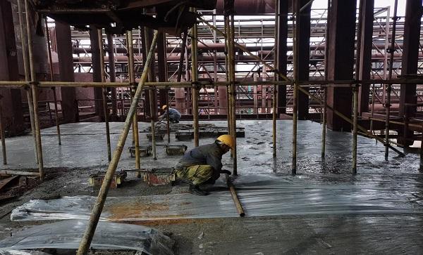 铜冠冶化电收尘区域加固工程提前交付安装